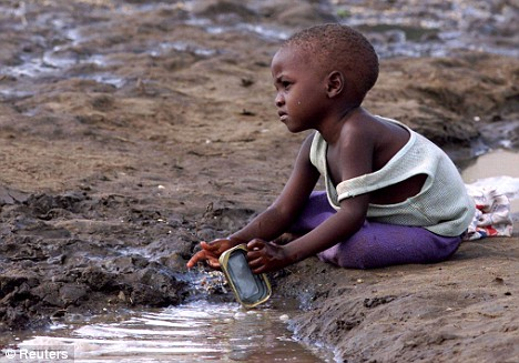 Where is the outpouring of public support for the African Children? It appears this little guy found a Drinking Fountain, a Bath, and a Wash Room. The World is very messed up!