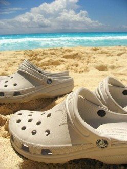 Casual Beach Crocs Like To Kick-Back!