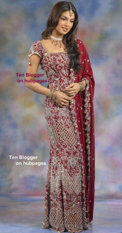 Priyanka Chopra- Heavy Wedding Lehenga Choli