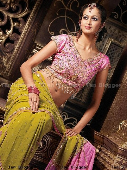 Olive Green Colour Georgette Saree