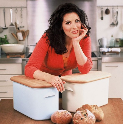 You well find Nigella in her kitchen among her wonderful state of the art equipment and choice ingredients.