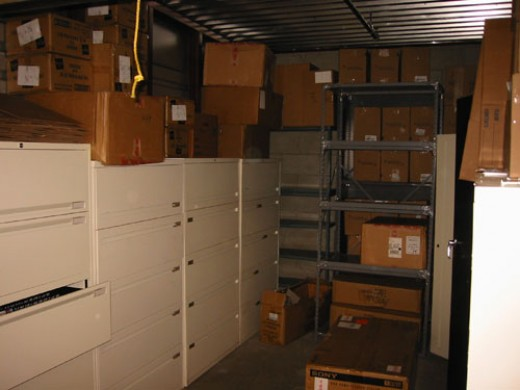 ...there were cabinets filled with documents everywhere.  The filing cabinets are still there...