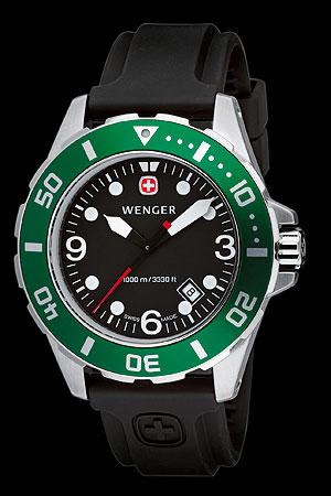 Wenger Aquagraph Green Watch
