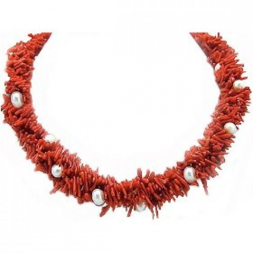 Red coral jewelry is great for Valentine's Day!