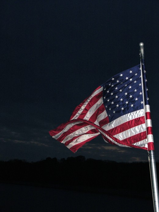 Old Glory at Dusk