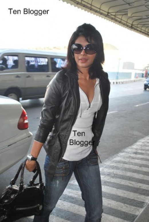 Piggy Chops - PC - Priyanka Chopra without makeup at Airport