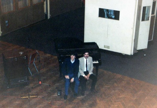 Paul & I sitting at the steinway