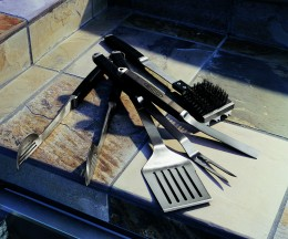 Good barbeque tools help with cooking so the grill area does not become a huge mess.