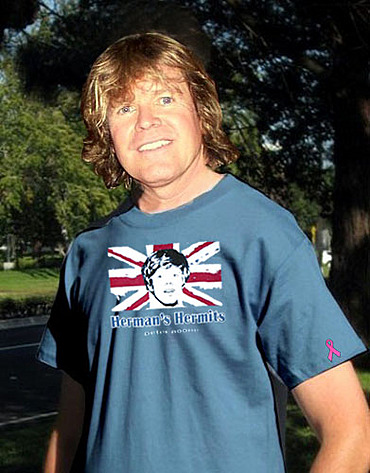 You can get this T-Shirt (as shown modeled by Peter No one) at www.peternoone.com. All proceeds go to breast cancer research.