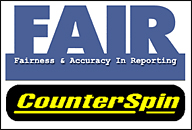 Fairness and Accuracy in the Media and their Radio Program, Counterspin Logos