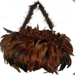 Rooster feather purse