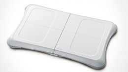 The Wii Balance Board - used with the Wii Fit software