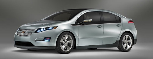 The 2011 Chevy Volt side view