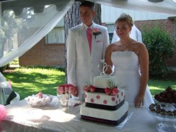 Home made cake and home made truffles by friends of the bride