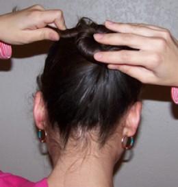 Create a hair bun