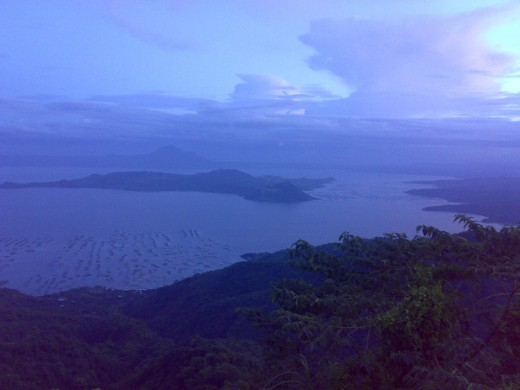 A picturesque view of Mt. Taal in Tagaytay