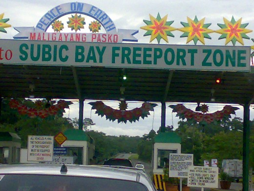 Entrance to the Subic Freeport