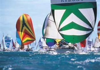 Colorful spinnakers