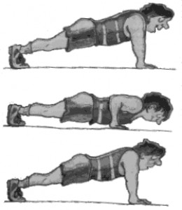 Push-ups tone up chest muscles and shoulders and strenghten the mid ...