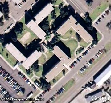 In Swastika-like building in California?