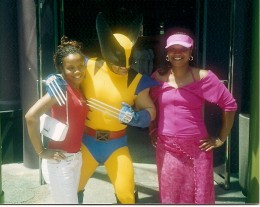 Me, my oldest and Wolverine!  Universal Studios, Florida