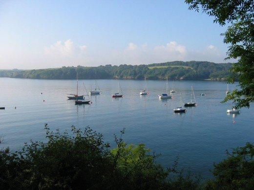 A picture of the Helford River in Cornwall.