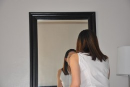 "Try to look at the mirror and practice answering ""Tell Me about Yourself"" . . . (Photo courtesy of Rita Javelona)"
