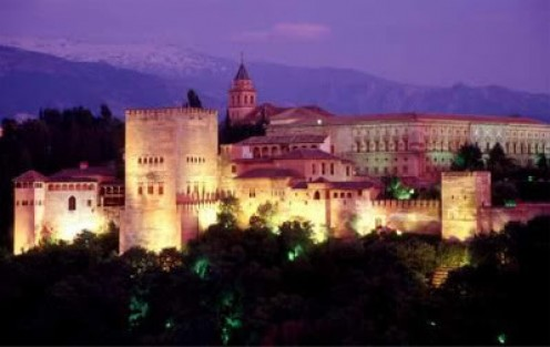 The Alhambra by night...(Photobucket)