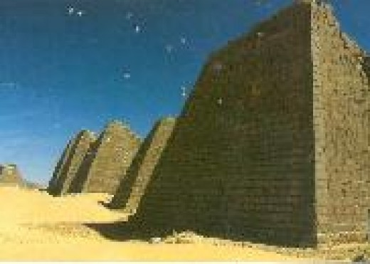 Pyramids of Meroe in color