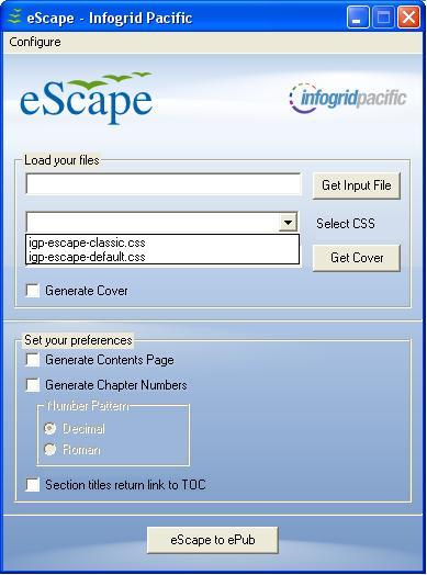 eScape: free ePub Creator