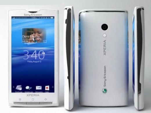 sony ericsson xperia x10 white colour. The Sony Ericsson Xperia X10