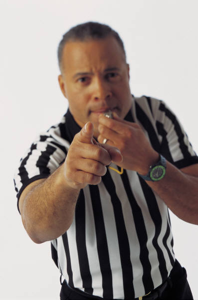 The irritating shrill of a referree's whistle signals the start of football season.