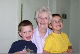 Great-Grandma with her grandkids