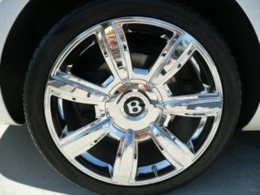 "Beautiful Bentley Automobile - tire/wheel cover with the classic Bentley ""B"""