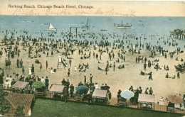 VIEW FROM CHICAGO BEACH HOTEL 1913
