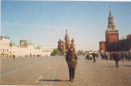Red Square in Moscow with St. Basil's Cathedral in background