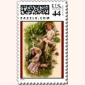 Cupid & Couple Vintage Postage