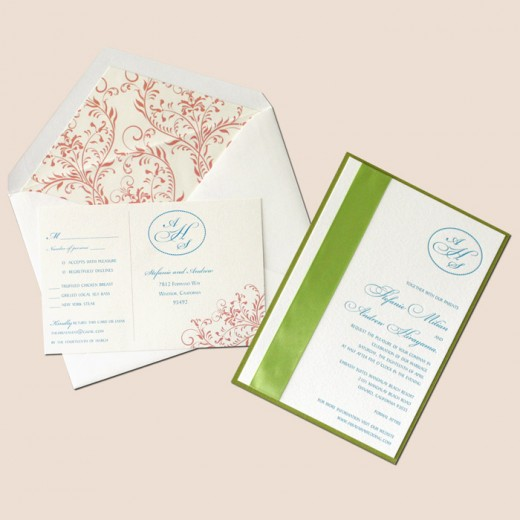 Letterpress wedding stationery is stylish and elegant