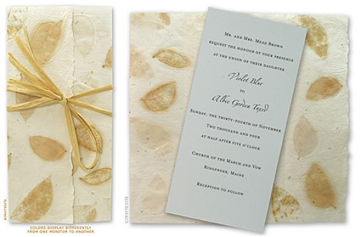 Eco-friendly wedding invitations are increasingly popular