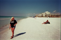 Tina and I on beautiful Destin beach the day after the concert