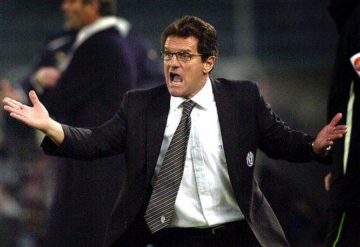 England manager Fabio Cappello