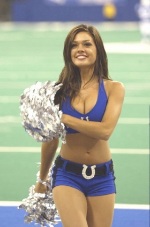 Cristina, COLTS beautiful cheerleader, I love that HORSE