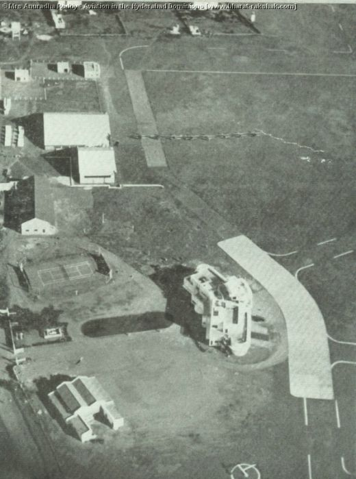 Aerial View Of Begumpet Airport @ Hyderabad built during Nizam VII period.