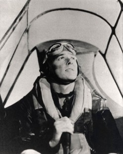 """This shot of Reagan was used in a training film to instruct American flyers against the plane called the """"Japanese Zero."""""""