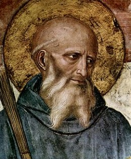 St Benedict  - from a fresco by Fra Angelico (c. 1395  February 18, 1455)