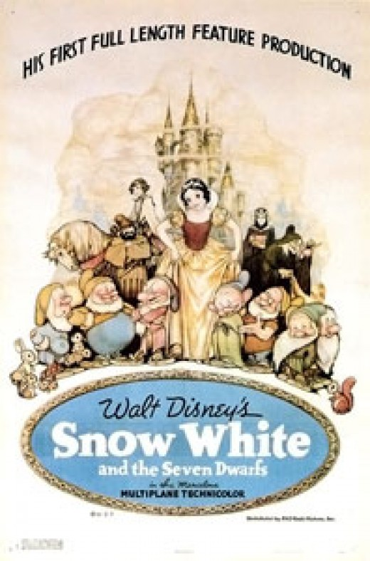 Snow White and the Seven Dwarfs is the first ever animated feature length film.