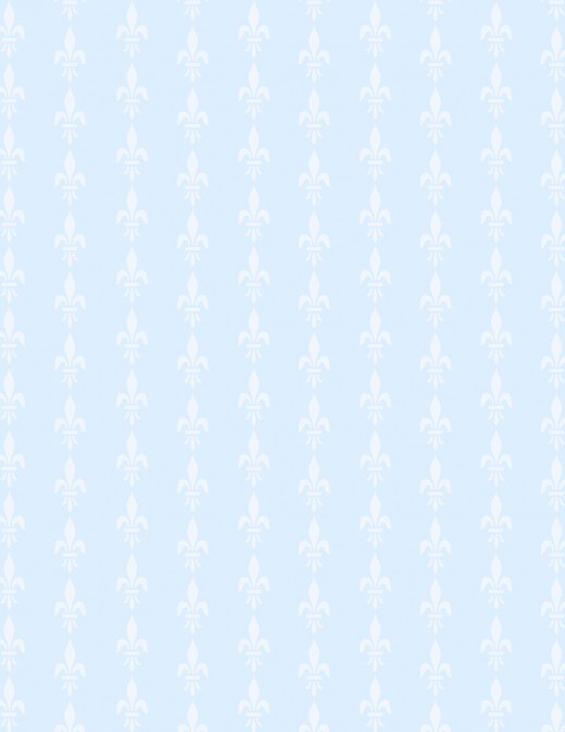 Free white fleur de lis designs on light blue background scrapbook paper