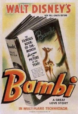 Bambi is by far one of the most endearing and emotional Disney movies ever made.