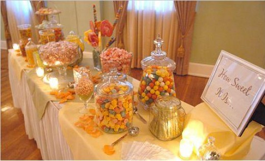GREAT DIY IDEA WEDDING CANDY BUFFET DISPLAY