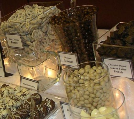 WEDDING CHOCOLATE CANDY BUFFET ADD LABELS FOR EACH CANDY